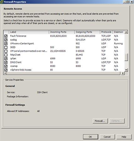 enable esxi syslog firewall