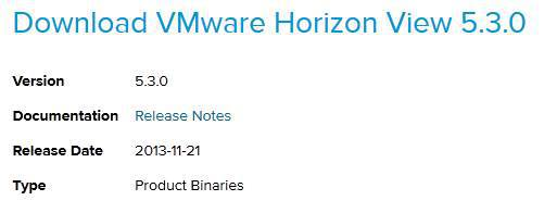 VMware 5.3 View available