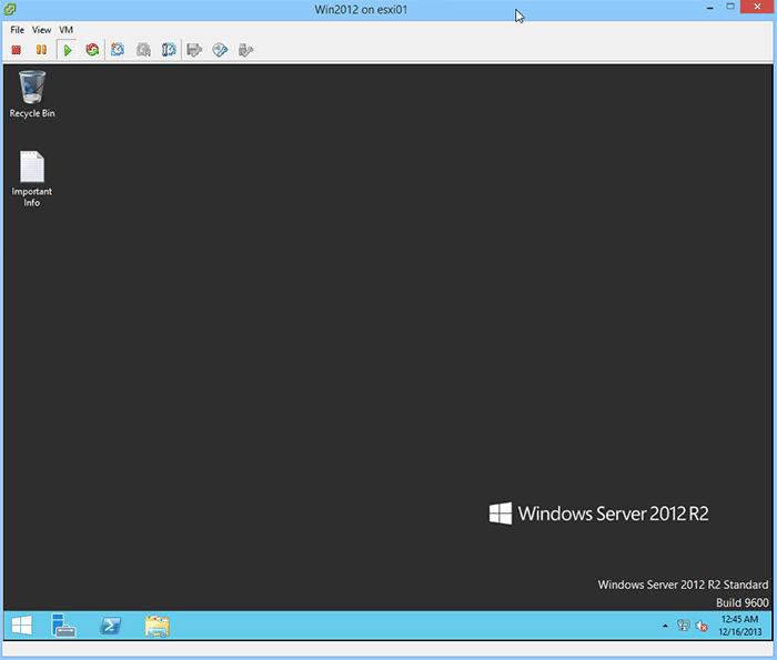 VM before deleting VMDK file