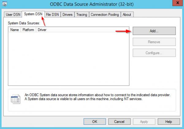 Add ODBC step 1
