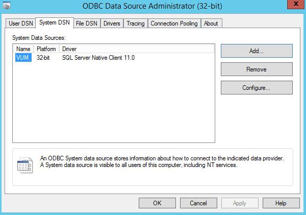 Add ODBC step 6