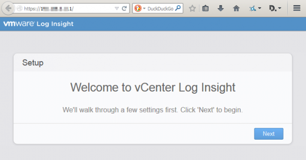 vmware log insight step1