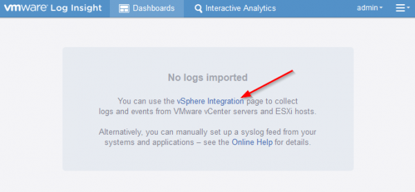 vmware log insight step10