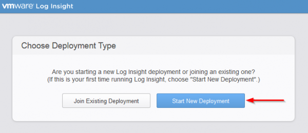 vmware log insight step2