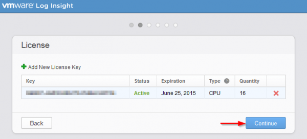 vmware log insight step5