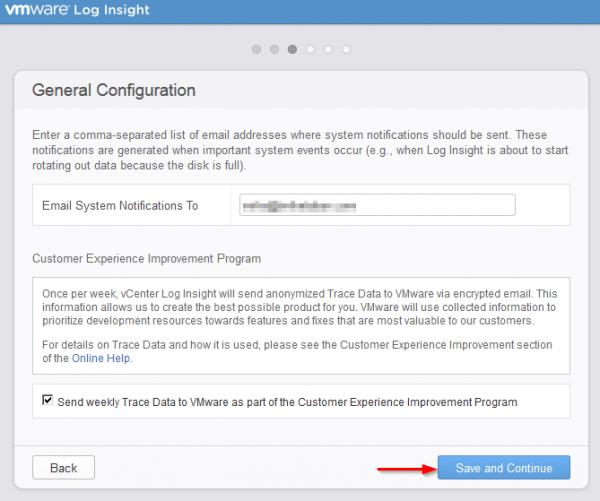 vmware log insight step6