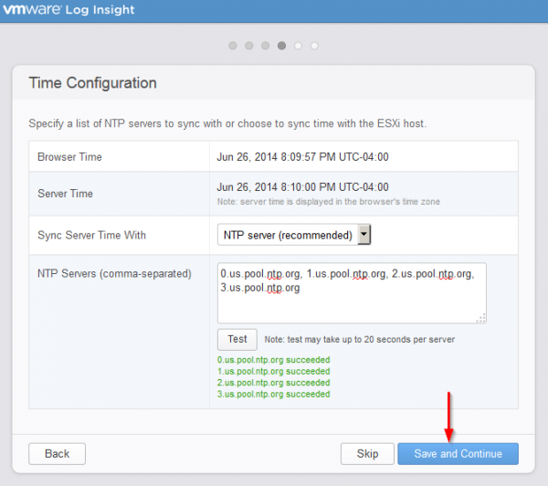 vmware log insight step7