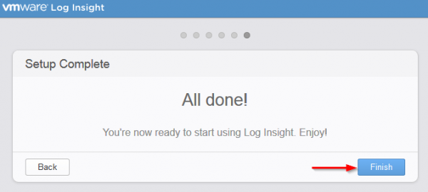 vmware log insight step9