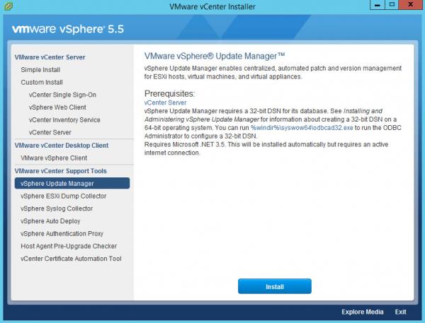 vSphere installer