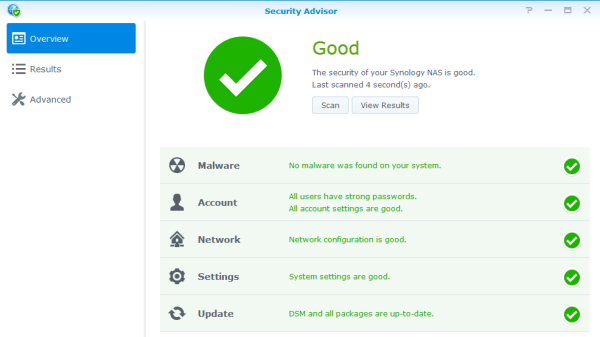 Synology Security Advisor