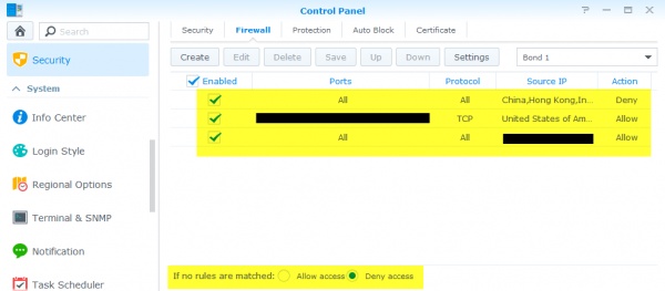 synology firewall
