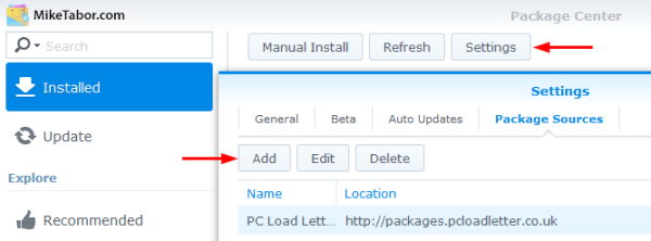 Synology Package Source