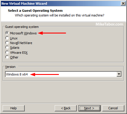 vmware workstation guest os