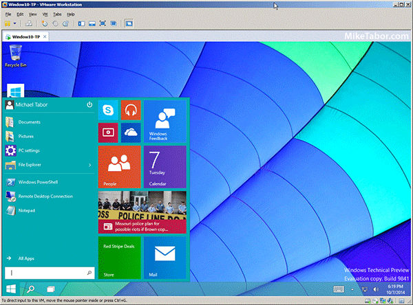 windows 10 on vmware workstation 10