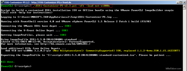 ESXi Customizer-PS customized esxi image