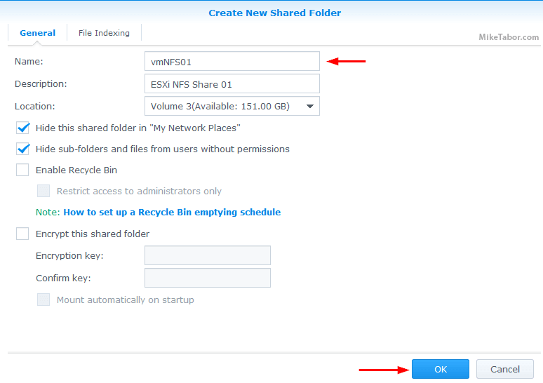 synology create shared folder