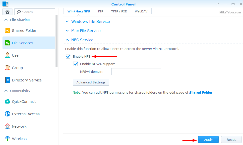 How to setup NFS on Synology NAS for VMware ESXi lab - Mike Tabor