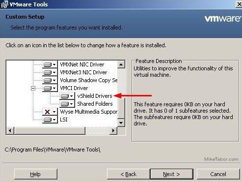 vmware tools vshield drivers