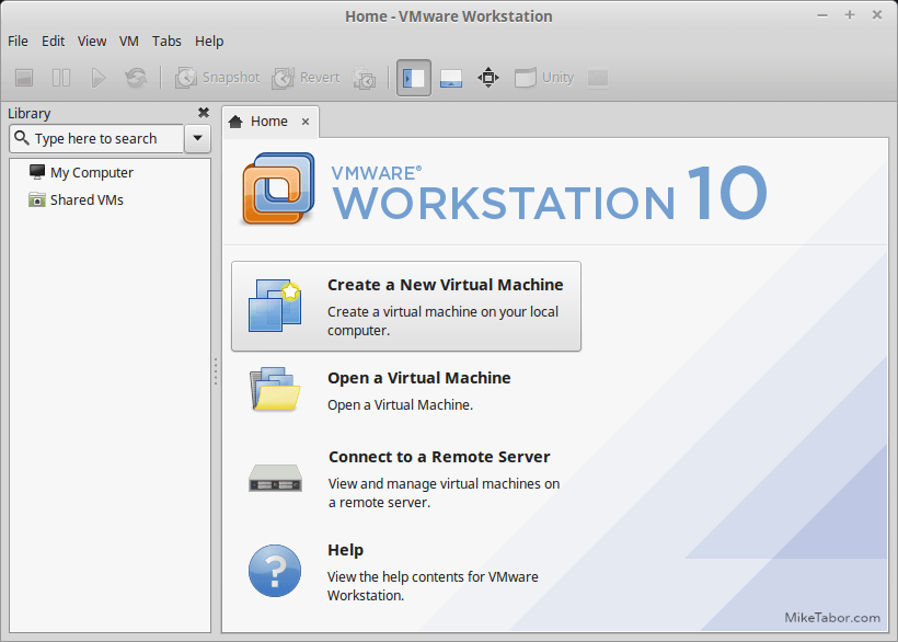 vmware workstation 10 linux mint
