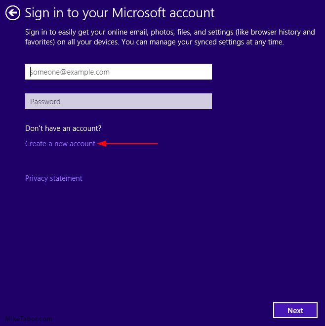 how to re use windows 10 from microsoft account
