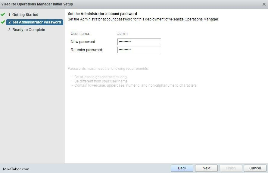 vrealize operations manager admin password