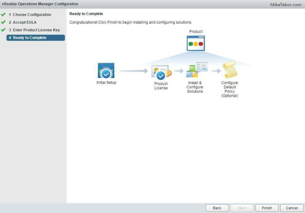 vrealize operations manager configure complete