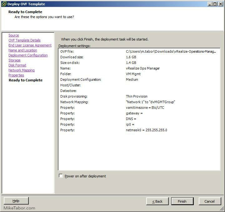 vrealize operations manager deploy ova