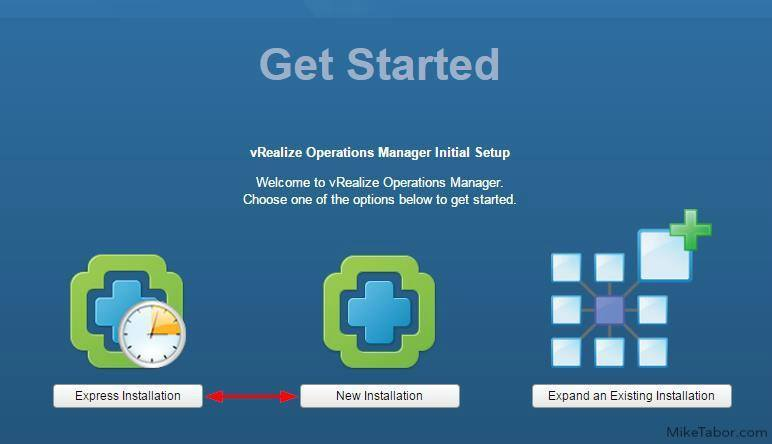 vrealize operations manager getting started