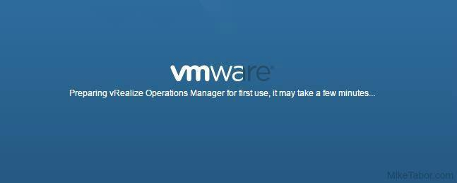 vrealize operations manager preparing