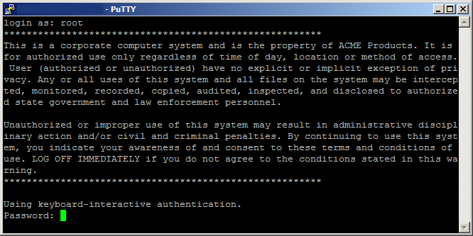 ESXi issues message