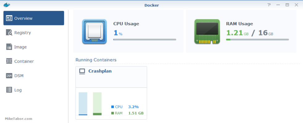 Crashplan running in Docker on Synology