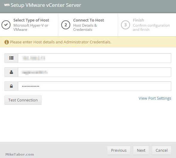Altaro vCenter server