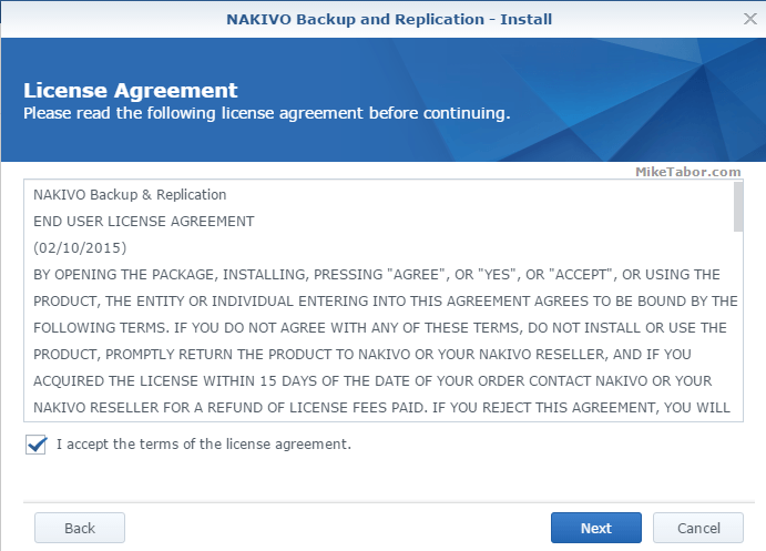 nakivo license agreement
