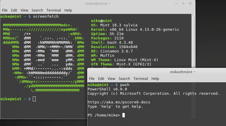 powershell on linux mint
