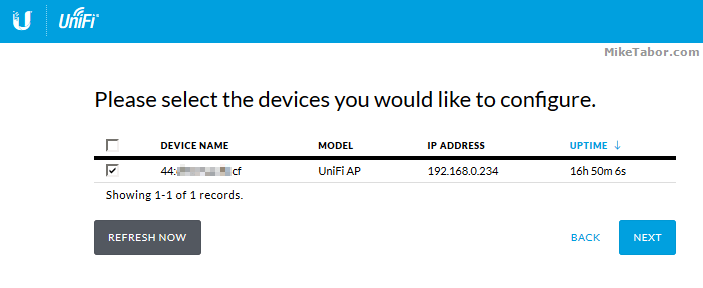 unifi controller setup step 2