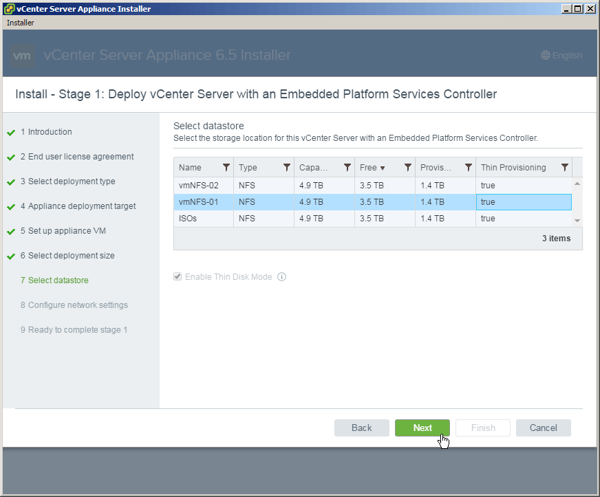 《Installing VMware vCenter Server Appliance 6.5》