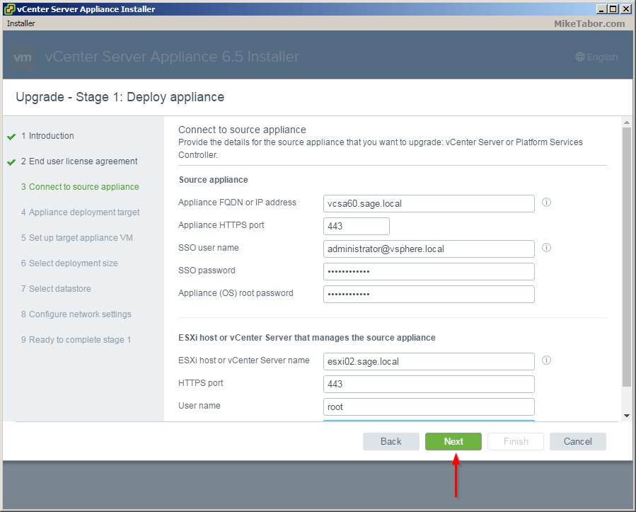 vcsa 6.5 upgrade source