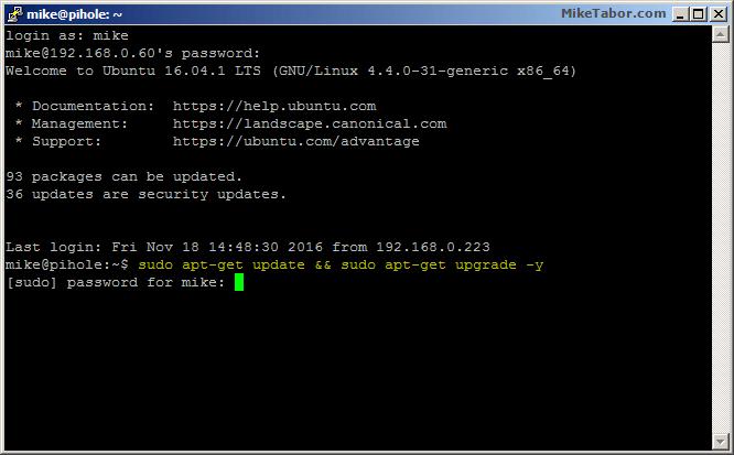 ubuntu ssh update system