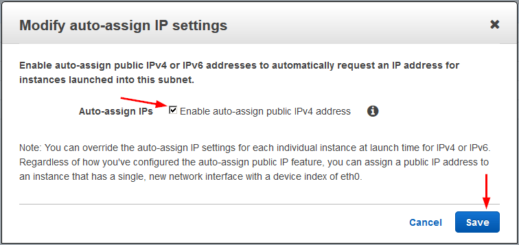 create custom vpc auto assign ip subnet enable