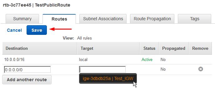 create custom vpc create route table internet route
