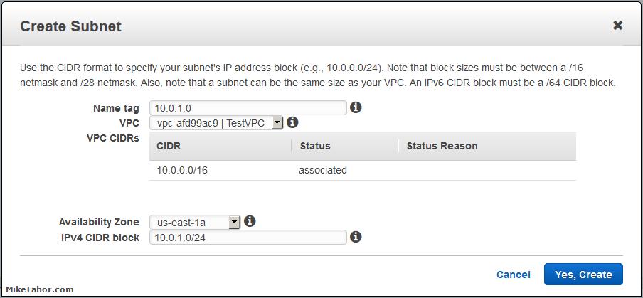 create custom vpc create subnets 02