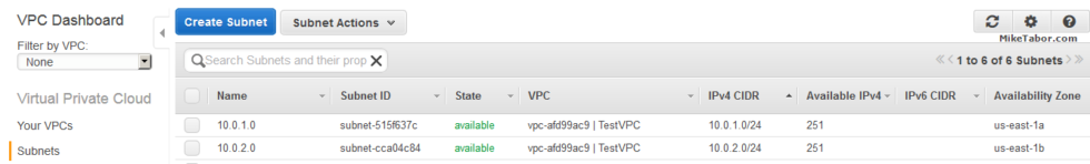 create custom vpc create subnets overview