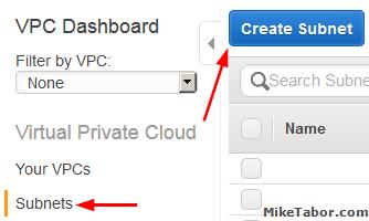 create custom vpc create subnets