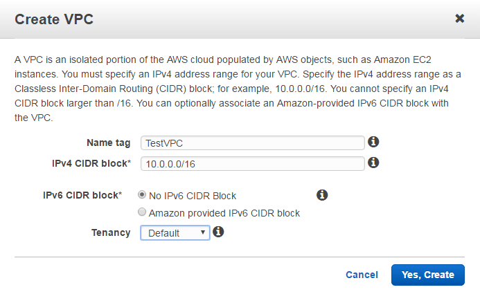 create vpc aws vpc name