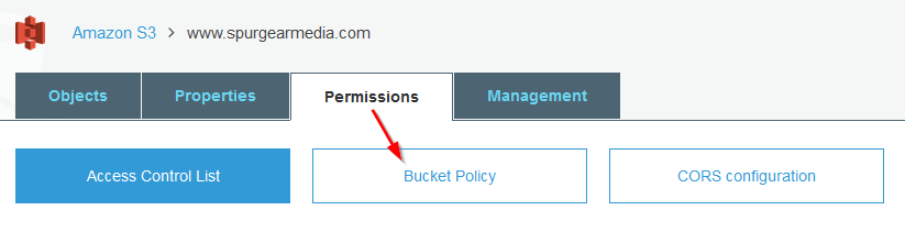 create s3 bucket policy