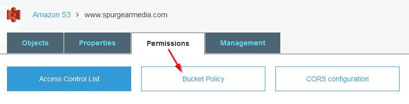 create s3 bucket policy
