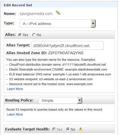 route53 alias redirect record