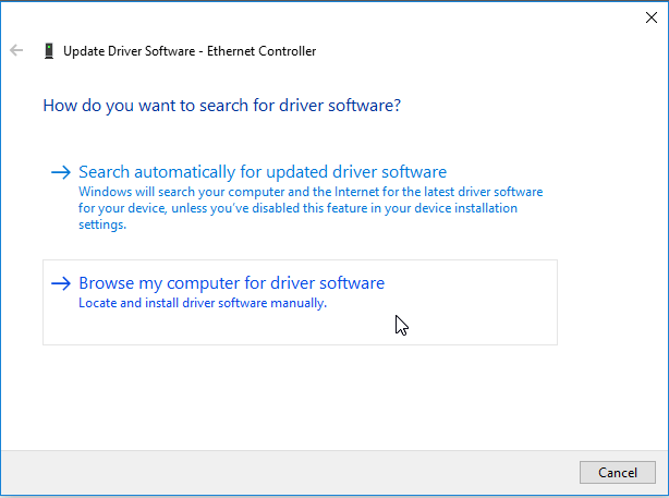 synology vm windows10 device manager update driver browse computer