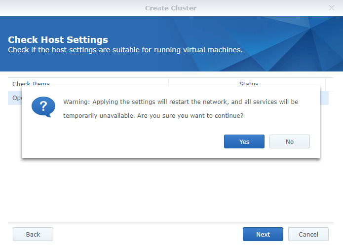 synology vmm restart network