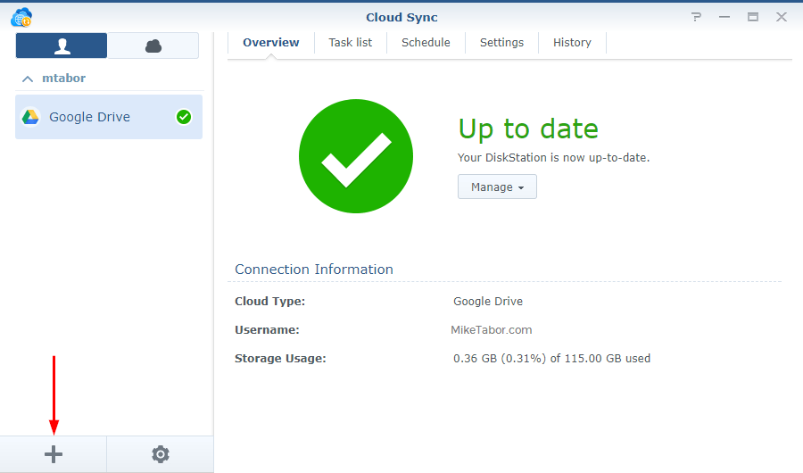 Backblaze on Synology - Add cloud sync